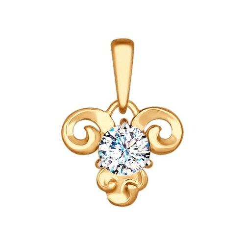 Подвеска «Знак зодиака Овен» SOKOLOV из красного золота