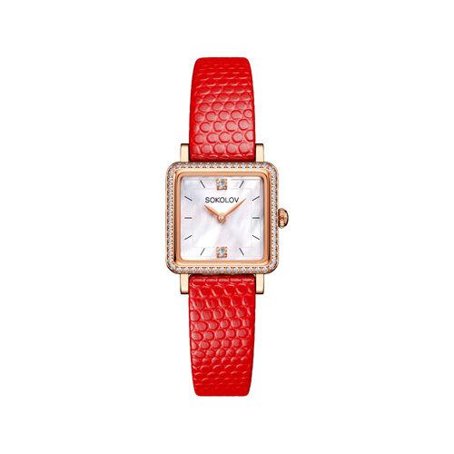 Женские золотые часы (232.01.00.001.05.03.2) - фото №2