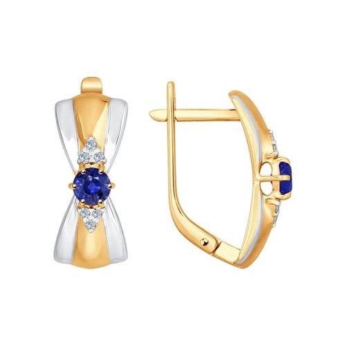 Серьги SOKOLOV из золота с бриллиантами и сапфирами серьги с сапфирами и бриллиантами из золота
