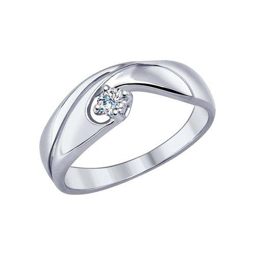 Кольцо из серебра с swarovski zirconia