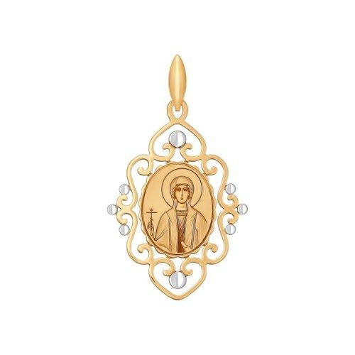 Иконка из золота с алмазной гранью и лазерной обработкой (101741) - фото
