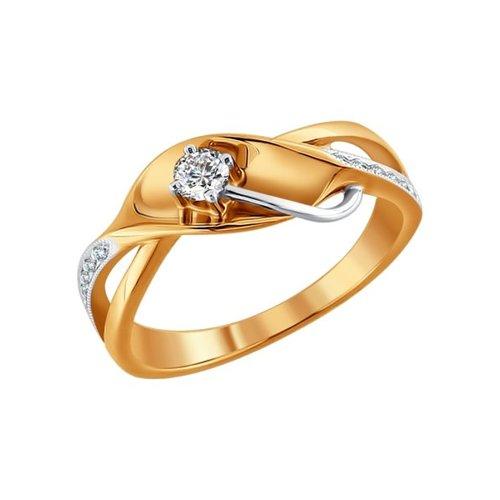 Кольцо из золота с бриллиантами (1010620) - фото