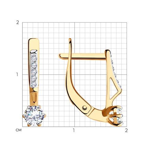 Серьги из золота с фианитами 028991 SOKOLOV фото 2