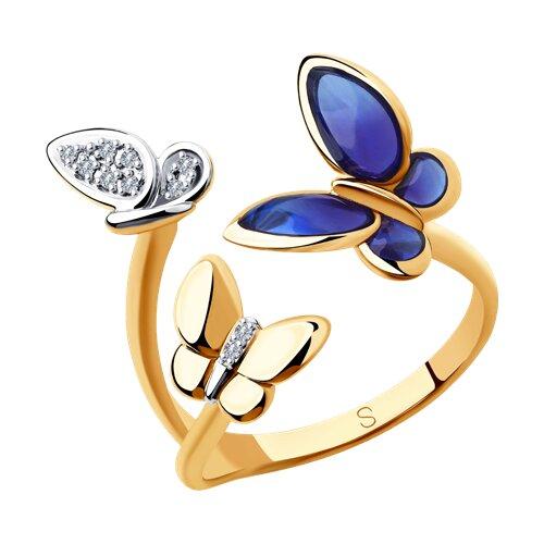 Кольцо из золота с бриллиантами (6019016) - фото