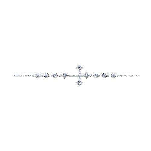 Браслет из серебра с фианитами (94050543) - фото