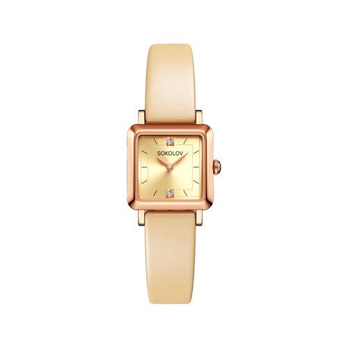 Женские золотые часы (231.01.00.000.06.09.2) - фото №2