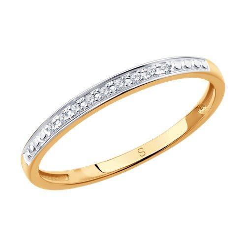 Кольцо из золота с бриллиантами (1011806) - фото
