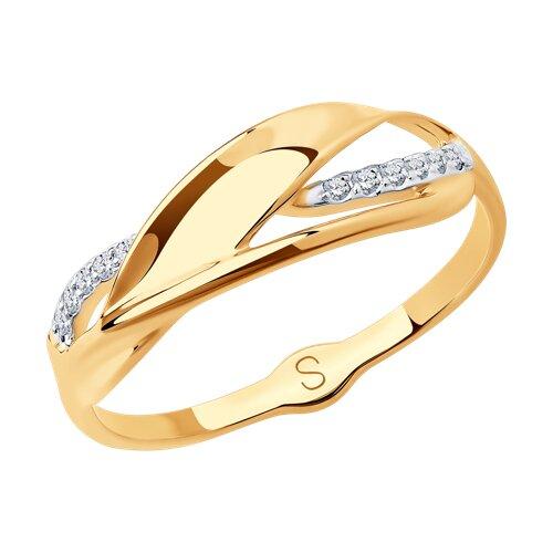 Кольцо из золота с фианитами 018067 SOKOLOV фото