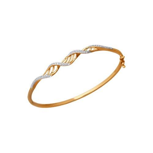 Женский жесткий браслет с фианитами SOKOLOV цена