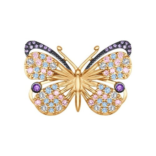 Брошь «Бабочка» SOKOLOV из золота