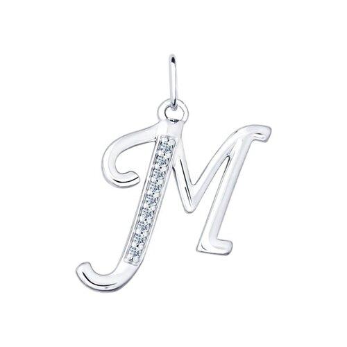 Кулон буква «М» (94031371) - фото