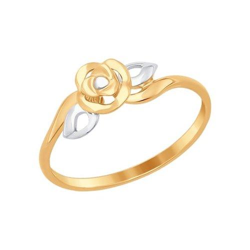Золотое кольцо «Роза» золотое кольцо ювелирное изделие 01k684711ul