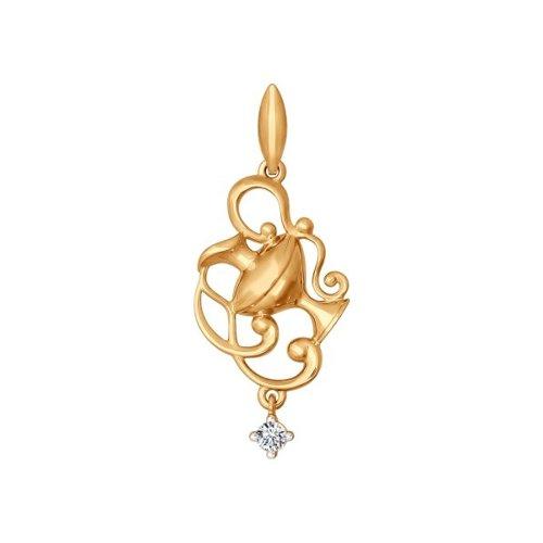 Золотой кулон «Знак зодиака Водолей» SOKOLOV
