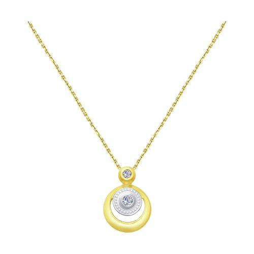 Колье из желтого золота с бриллиантами (1070050-2) - фото