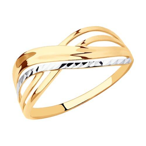 Кольцо из золота с алмазной гранью (017294) - фото