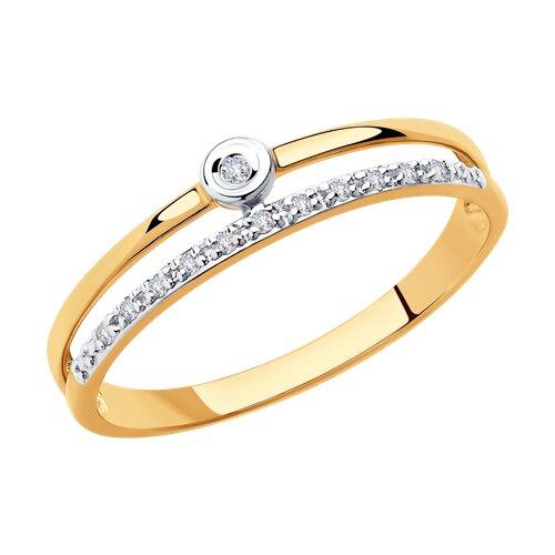 Кольцо из золота с бриллиантами (1011864) - фото