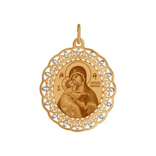 Золотая иконка «Владимирская Божья Матерь» SOKOLOV владимирская божья матерь leader argenti