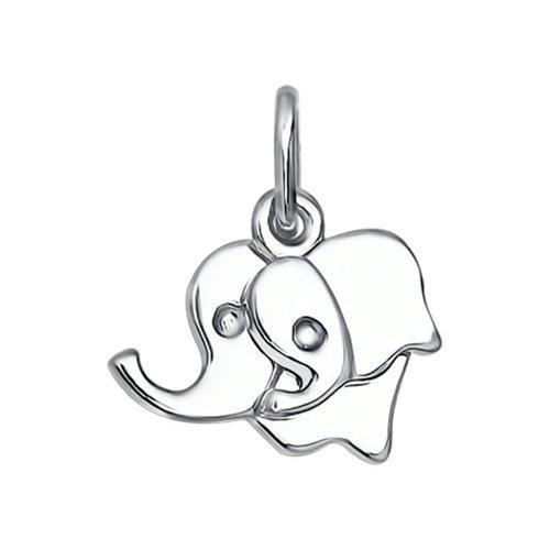 Подвеска «Слоники» из серебра