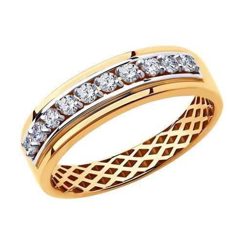 Кольцо из золота с фианитами 018260 sokolov фото