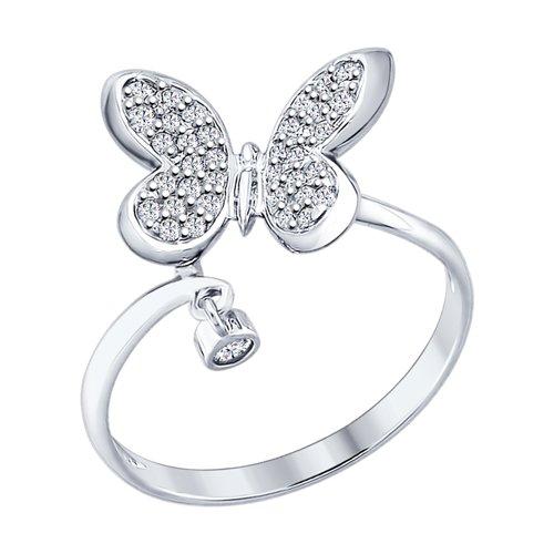 Серебряное кольцо «Бабочка»