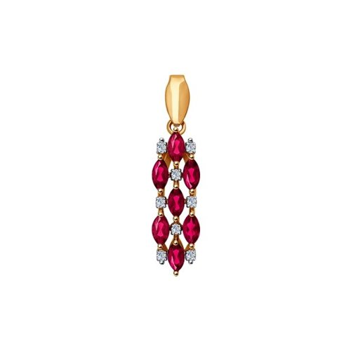 Подвеска SOKOLOV из золота с бриллиантами и рубинами