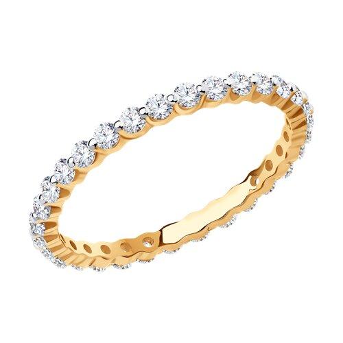 Кольцо из золота с фианитами Сваровски 81010505 sokolov фото