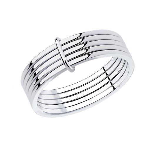 Кольцо из серебра (94013067) - фото