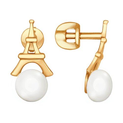 Серьги из золота с жемчугом