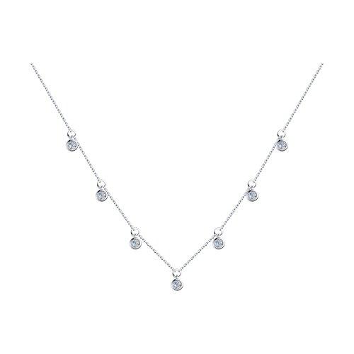 Колье из серебра с фианитами (94070351) - фото