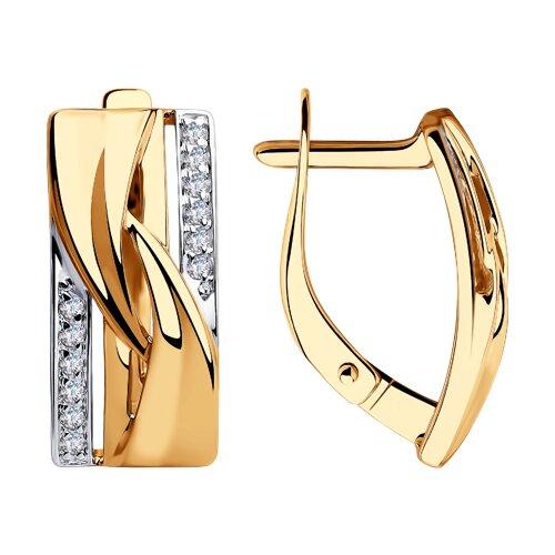 Серьги из золота с фианитами 028364 SOKOLOV фото