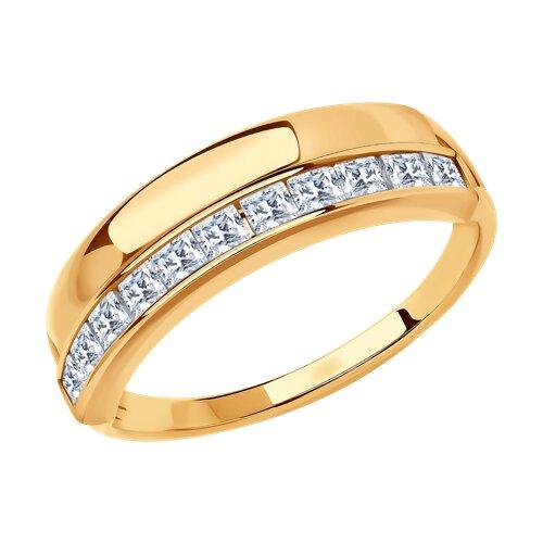 Кольцо из золота с фианитами 018567 sokolov фото