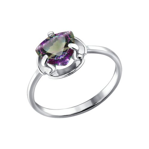 Серебряное кольцо с мистик топазом SOKOLOV