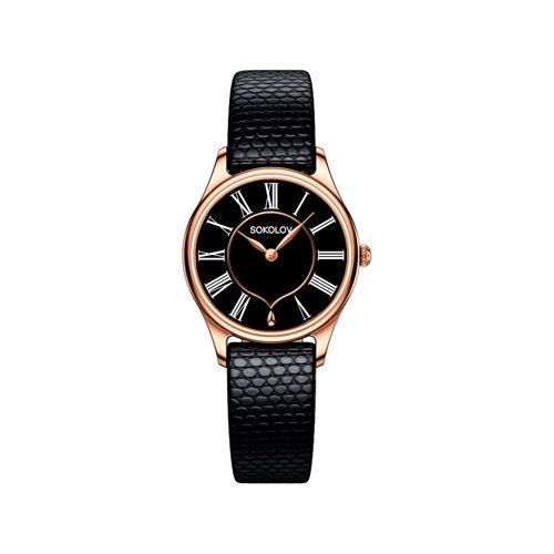 Женские золотые часы (238.01.00.000.03.01.2) - фото №2