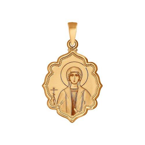 Иконка из золота с лазерной обработкой (103025) - фото