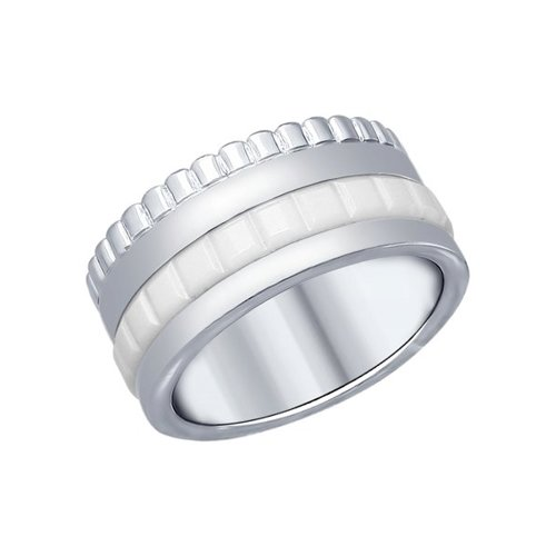 Кольцо из серебра с керамической вставкой