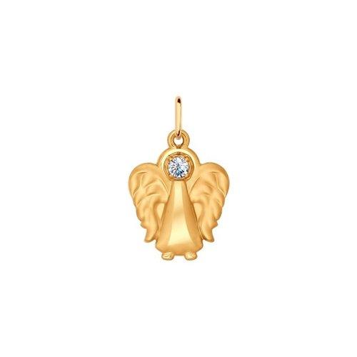 Подвеска SOKOLOV из золота «Ангел» с фианитом