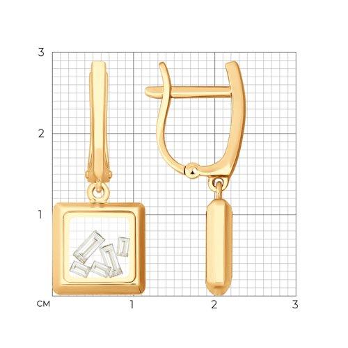 Серьги из золота  (027728) - фото №2
