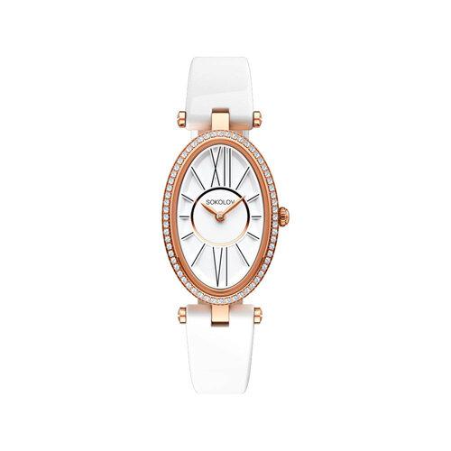 Женские золотые часы (236.01.00.100.01.05.2) - фото №2