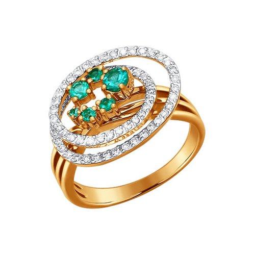 цена на Кольцо SOKOLOV из золота с бриллиантами и изумрудами