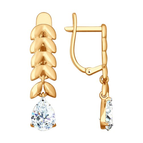 Серьги из золота со Swarovski Zirconia (81020398) - фото