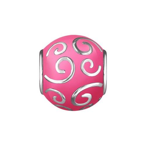 Подвеска-шарм, узоры на розовой эмали SOKOLOV