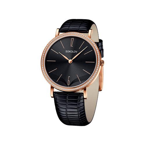 Женские золотые часы (210.01.00.100.08.01.2) - фото