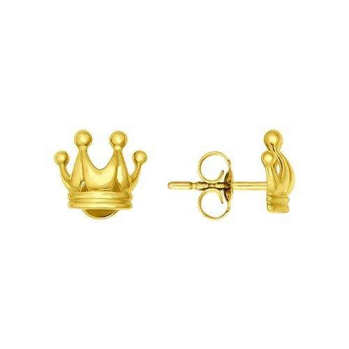 Серьги-пусеты из жёлтого золота серьги пусеты из жёлтого золота с фианитами