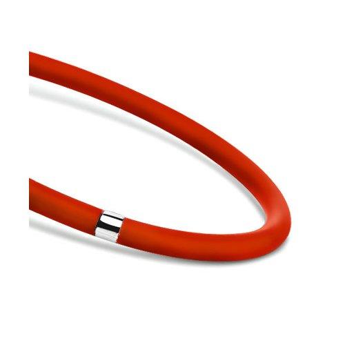 цена на Красный силиконовый браслет для подвесок SOKOLOV