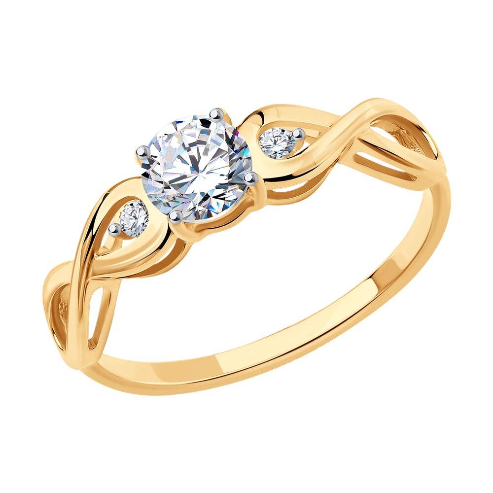 Помолвочное кольцо SOKOLOV из золота 585 пробы с фианитами фото