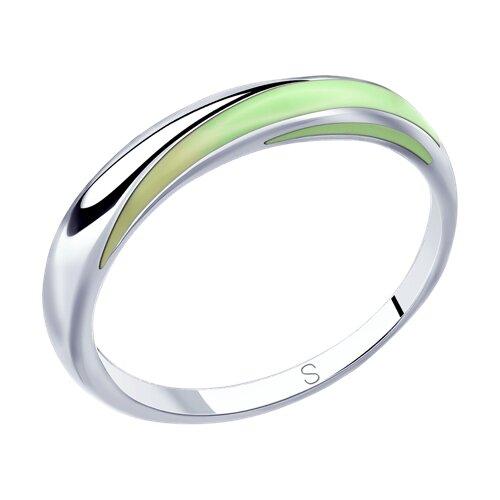 Кольцо из серебра с эмалью (94012812) - фото
