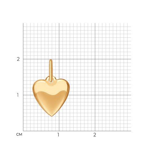 Подвеска «Сердце» из золота (035184) - фото №2