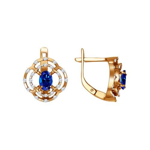 Серьги SOKOLOV из красного золота с драгоценными камнями бронницкий ювелир серьги из красного золота ф7157 2 4736