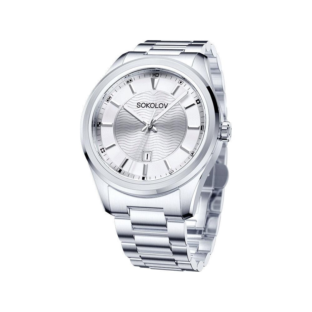 Фото - Мужские стальные часы SOKOLOV мужские часы lars larsen 120rsan