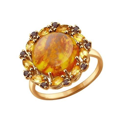 Кольцо SOKOLOV из золота с миксом камней кольцо листок с миксом камней sokolov